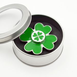 Green Painted Metal Zinc Fidget Spinners 4-Leaf Clover Hand Spinners pictures & photos
