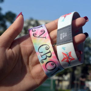 Wholesale Custom Logo/Design Promotional Fabric Bracelets & Wristbands pictures & photos