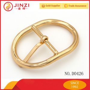 Luxury Oval Curve Single Pin Belt Buckle for Handbags pictures & photos