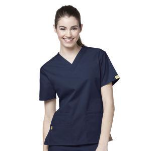 Women′s Slim Fit Scrubs V-Neck Nurse Uniform (A610) pictures & photos