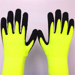 2 Layers Gloves with Sandy Nitrile Coating pictures & photos