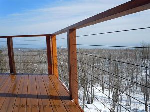 Balcony Balustrade / Terrace Steel Rail / Decking Wire Railing pictures & photos
