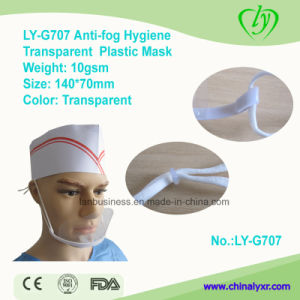 Ly-G707 Anti-Fog Hygiene Transparent Plastic Clear Mask pictures & photos