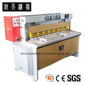 CNC Hydraulic Swing Beam Shearing and Cutting Machine QC12K 10X2500 pictures & photos