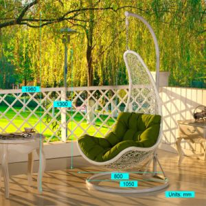 Modern Leisure Round Rattan Patio Furniture Hanging Chair (J810) pictures & photos