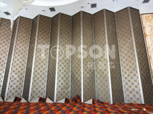 Topson Sheet Metal Fabrication Stainless Steel Folding Room Divider Screen Partition for Hotel Decoration pictures & photos