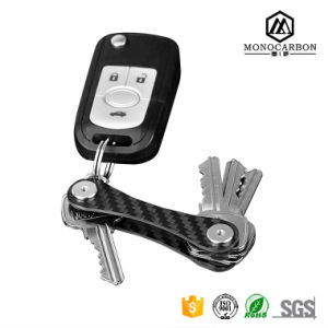 Wholesale Portable Customized Compact Key Organizer Mini Carbon Fiber Locker Key Holder pictures & photos
