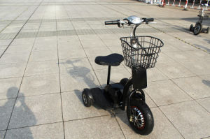 Portable Compact Mobility 3 Wheels Travel Electric Scooter Foldable Easy Carrying Knee Walker pictures & photos