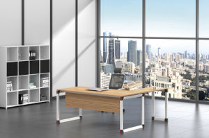 White Customized Metal Steel Office Executive Table Frame Ht96-2 pictures & photos