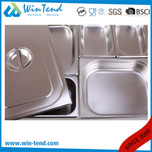 Hot Sale Stainless Steel Electrolytic Restaurant Kitchen 1/4 Size Steam Pan pictures & photos