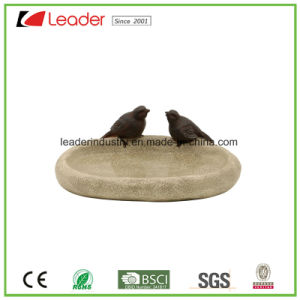 Polyresin Hand Painted Bird Lovers Birdbath Statue for Garden Decroation pictures & photos