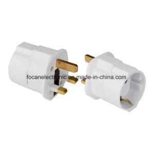 UK Travel Adaptor European Schuko to UK 13A Plug pictures & photos