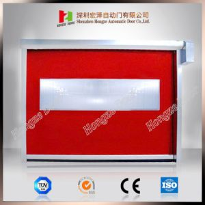 Factory High Speed Roller Shutter PVC Transparent Curtain Roll up Door (Hz-HSD010) pictures & photos