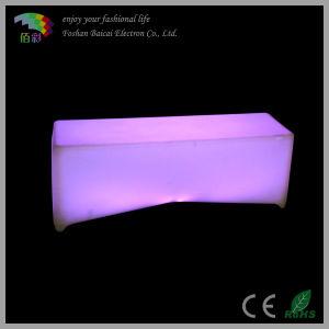 Long Lifetime PE Plastic LED Glow Bench Chair pictures & photos