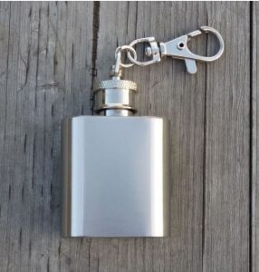 1oz Stainless Steel Mini Hip Flask Oil Bottle with Finger Ring pictures & photos