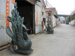 Bronze Phoenix, Outdoor Garden Decoration, Interior Space Block, Water Features Sculptures. pictures & photos