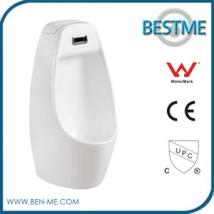 Wall-Mounted Ceramic Urinal with Splash-Free Surface and Sensor Auto Flush system pictures & photos