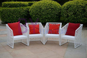PE Rattan Table and Chair Set Dining Furniture pictures & photos