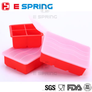 Large Cube Silicone Ice Tray for Whiskey Ice and Cocktails