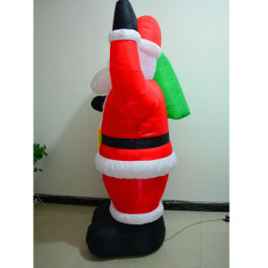 LED Christmas Fabric Inflatable Santa Claus for Decoration pictures & photos