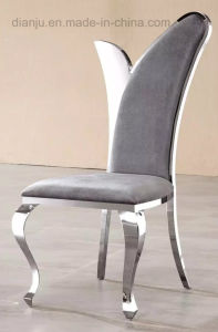 Fashion Stainless Steel Furniture Comfortable Fabric Leisure Chair (B86)