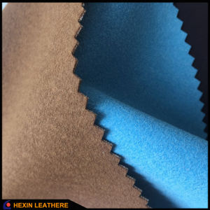 Faux Suede Mircrofiber Leather for Shoes Hx-Fs1701 pictures & photos