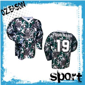 Latest Digital Sublimation Printing Camo Hockey Shirts (H026) pictures & photos