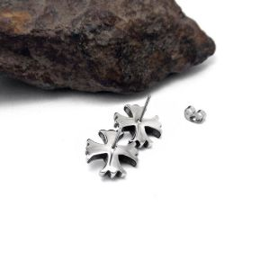 Cross Stud Earrings 316L Stainless Steel Fashion Punk Jewelry pictures & photos