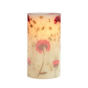Flower Stickers Pillar Flameless LED Candle for Gift and Home Decoration pictures & photos