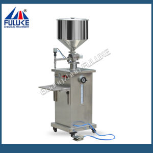 Semi-Auto Temperature Cream Essential Liquid Filling Machine pictures & photos