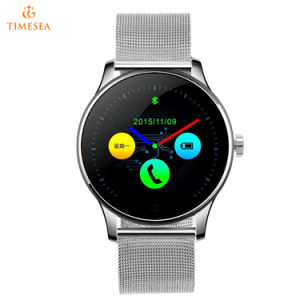 Bluetooth Smart Watch with Heart Rate Monitor Stainless Steel/Leather Band Wristwatch for Men 72087 pictures & photos