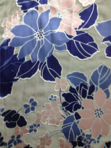 Burn out Discharge Printed Silk Opal in Floral Pattern pictures & photos