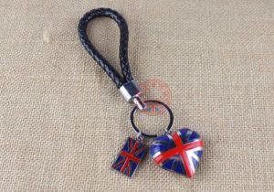 Custom Promotional Gift Rice British Union Jack Flag Key Chain pictures & photos