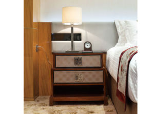 Mohagony Wood Royal Furniture Hotel Bedroom Sets pictures & photos