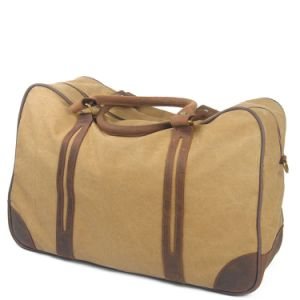 Cowhide Leather Strap Washed Military Duffle Canvas Travel Bag RS-6827c pictures & photos