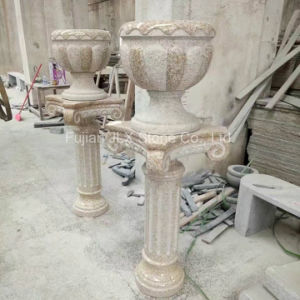 G682 Yellow Granite Polished Flower Pot with Pedestal pictures & photos