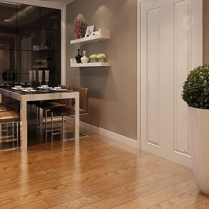 7.3mm Oak V-Groove HDF Laminate Flooring pictures & photos
