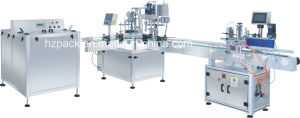 Bottle Turntable+Filling and Capping Machine+Labeling Machine pictures & photos