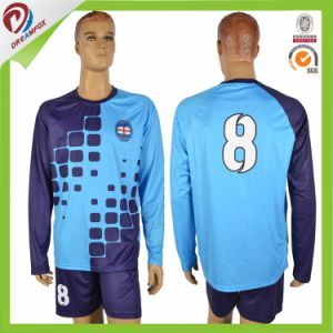 Long Sleeve Custom Kid Soccer Jersey Football Uniform Wholesale From China pictures & photos