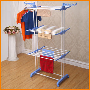 Powder Coated Steel Foldable Multi-Purpose Clothes Drying Rack Jp-Cr300W pictures & photos