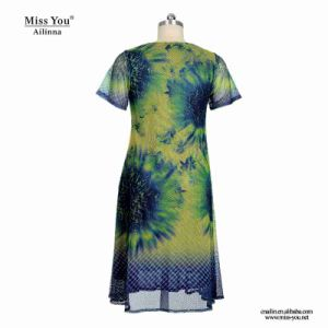 Miss You Ailinna 802023 Women Summer Print Short Floral Mesh Dress Distributor pictures & photos