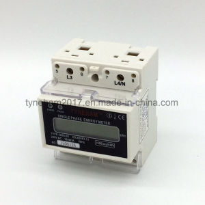 Dds-5L Single Phase DIN Rial Kwh Meter pictures & photos