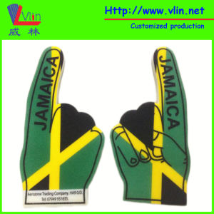 One Finger Big Foam Hand with Jamaica National Flag pictures & photos