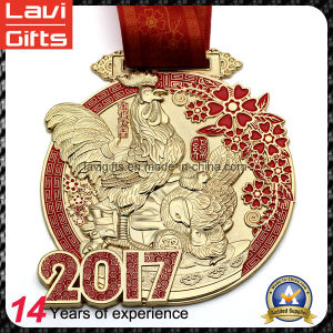 2017 Newest Year of The Rooster Antique Gold Medal pictures & photos