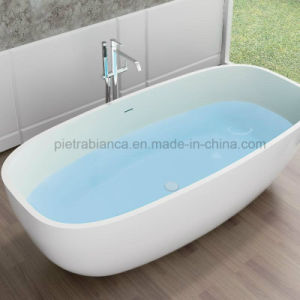 Bathroom Pure Acrylic Seamless Freestanding Bathtub (PB1081G)