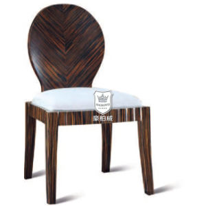 Stripe Dark Browm Solid Wood Restaurant Coffee Chair pictures & photos
