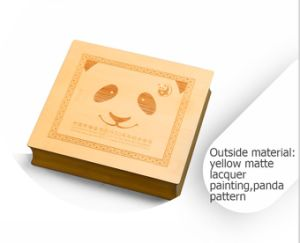 Leisure Lovely Custom Rigid Panda Pattern Wooden Gift Box pictures & photos