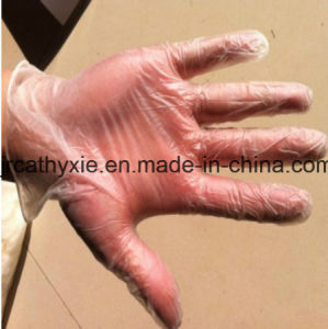 Blue Clean Powdered/Powder Free Disposable Vinyl Gloves pictures & photos