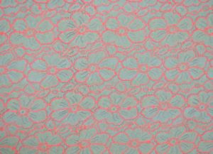 Pink Swiss Delicate Melt Poly Lace Fabrci, High Quality and New Patternln10022 pictures & photos