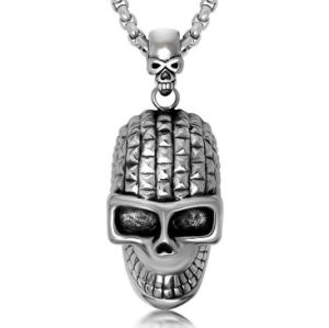 316L Stainless Steel Gothic Skull Men Necklace Pendant pictures & photos